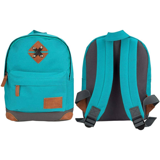 Abbey rugzak 28 x 20 x 10 cm polyester turquoise 5,5 liter