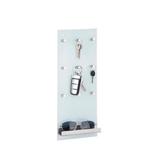 Haushalt 98074 - Sleutelrek van Glas voor 9 sleutels - Glas - 15x40 cm
