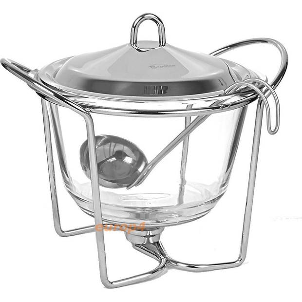 Kinghoff 1413 - voedselverwarmer - pot vorm - RVS