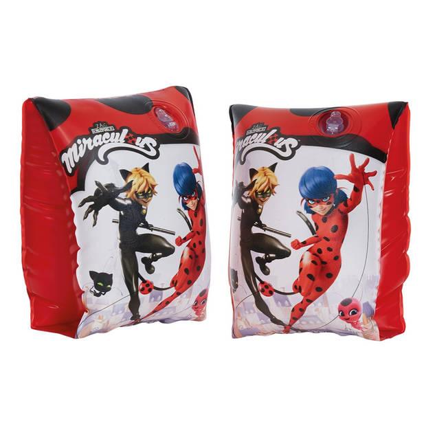 Miraculous zwemvleugeltjes PVC rood/wit one-size 2 stuks