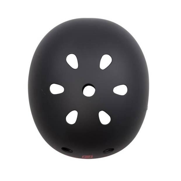 FUNBEE Bowl helm maat S - Zwart en Rood - Polyurethaanschuim - Polyester banden