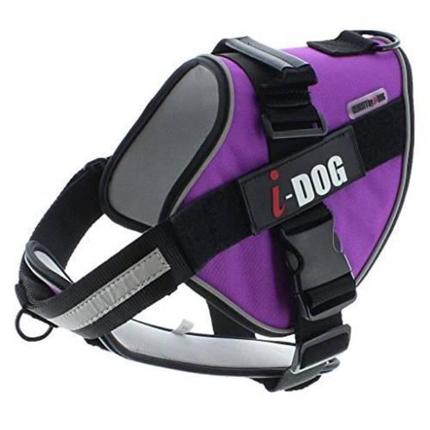 I DOG Neocity Harness - Maat M - Paars & Grijs - Voor hond