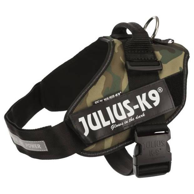 JULIUS K9 IDC krachtharnas 0-M-L: 58-76 cm - 40 mm - Camouflage - voor hond