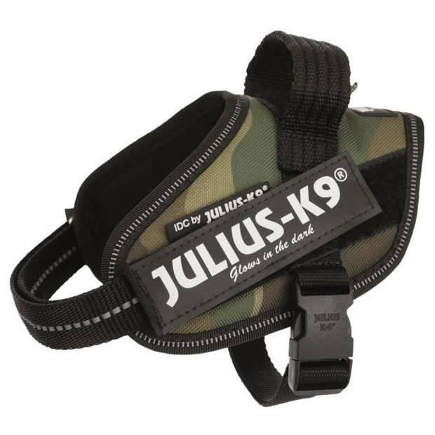 JULIUS K9 Power IDC babyharnas 2-XS-S: 33-45 cm - 18 mm - Camouflage - voor hond