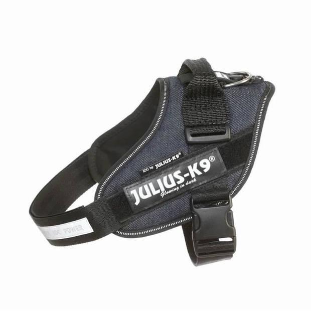 JULIUS K9 IDC Power Harness 0-M-L: 58-76 cm - 40 mm - Jeans - Voor hond