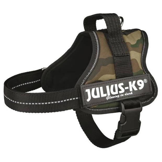 JULIUS K9 Krachtharnas - Mini - M: 51-67 cm-28 mm - Camouflage - Voor hond