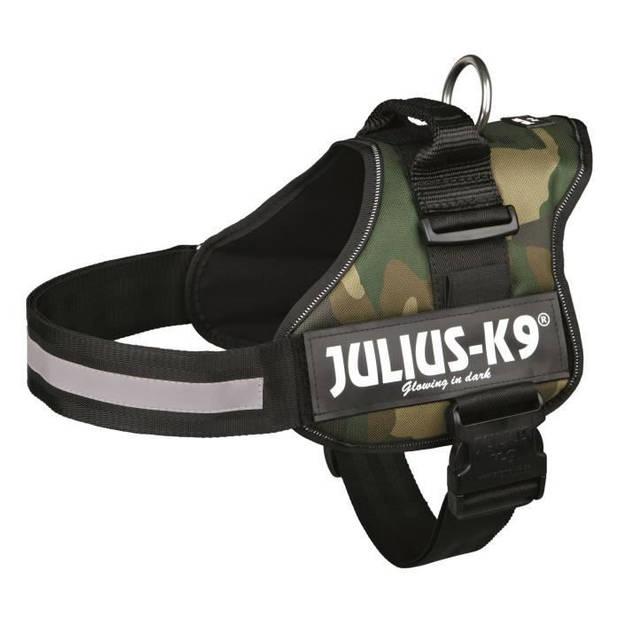 JULIUS K9 Krachtharnas - 2 - L-XL: 71-96 cm-50 mm - Camouflage - Voor hond