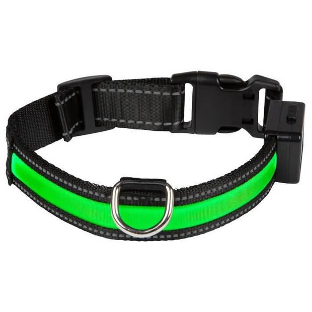 EYENIMAL Lichthalsband Lichthalsband USB Oplaadbaar S - Groen - voor honden