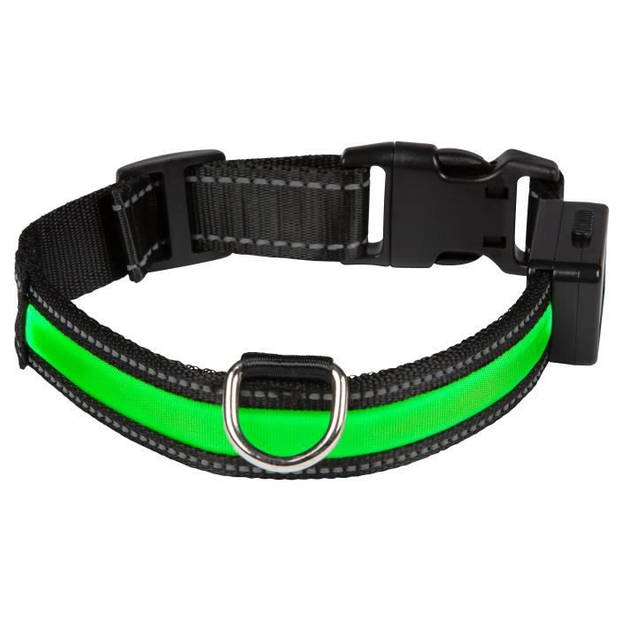 EYENIMAL halsband Oplaadbare lichthalsband M - groen - voor honden