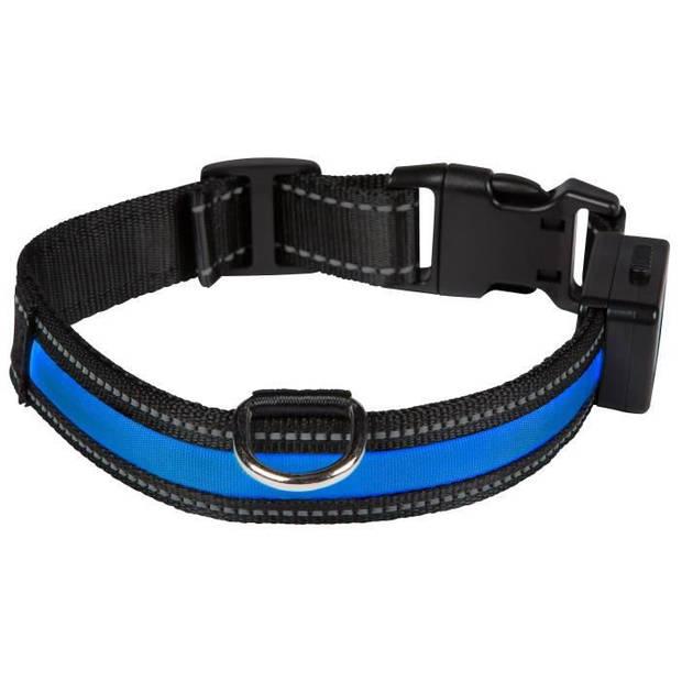 EYENIMAL Lichthalsband Oplaadbare lichthalsband M - Blauw - voor honden