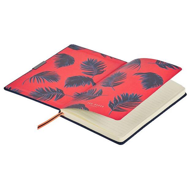 Wild & Wolf notitieboek Ted Baker A5 papier/kunstleer blauw