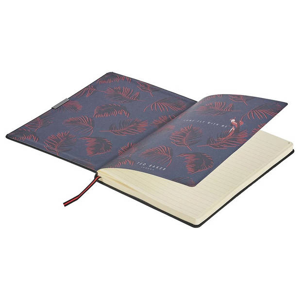 Wild & Wolf notitieboek Ted Baker 25 x 18 cm papier zwart