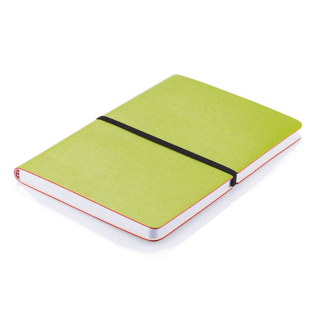 XD Collection notitieboek Deluxe softcover A5 PU/papier groen
