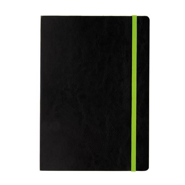 XD Collection notitieboek soft cover A5 PU/papier zwart/groen