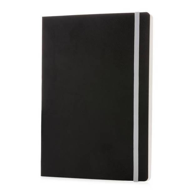 XD Collection notitieboek soft cover A5 PU/papier zwart/wit