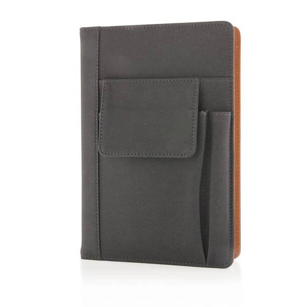 XD Collection notitieboek met telefoonzakje A5 PU/papier zwart