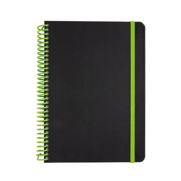 XD Collection notitieboek Deluxe A5 PVC/papier zwart/groen