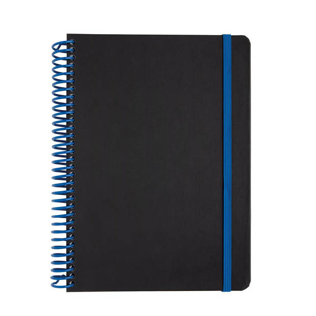 XD Collection notitieboek Deluxe A5 PVC/papier zwart/blauw
