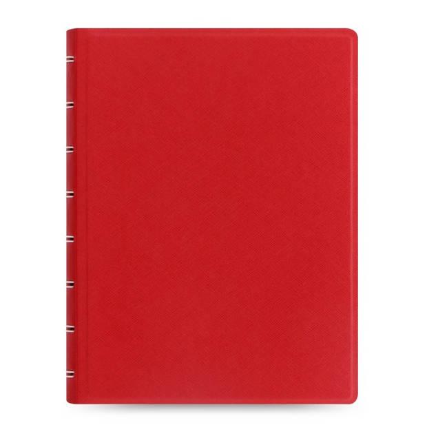 Filofax notitieboek Saffiano A5 papier/kunstleer rood