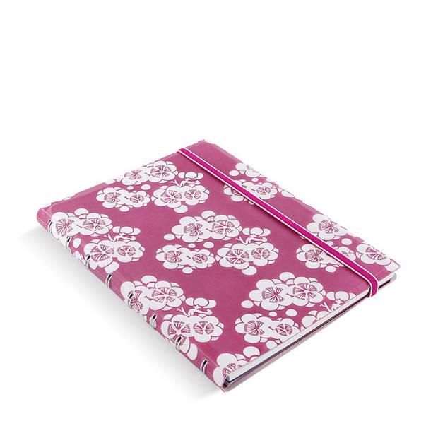 Filofax notitieboek Impressions A5 papier/kunstleer roze/wit