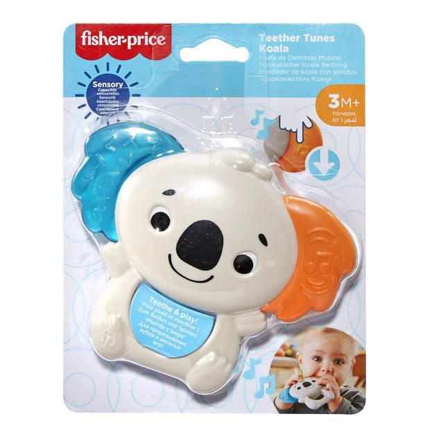 Fisher-Price bijtring Koala 13 cm rubber ivoorwit/blauw/oranje