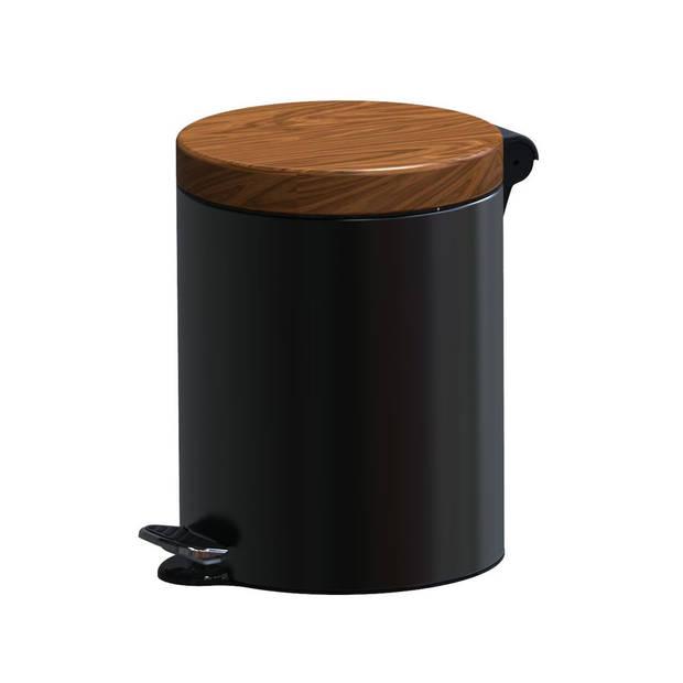 ALDA Excellent – Design prullenbak 5L - zwart