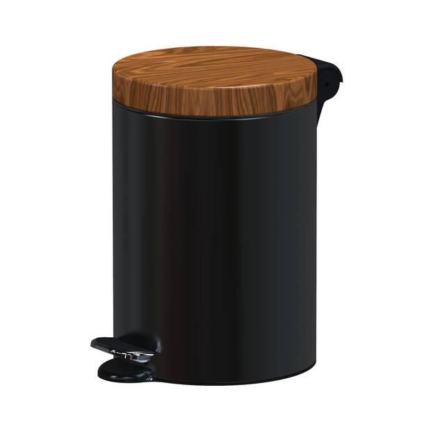 ALDA Excellent – Design prullenbak 3L - zwart