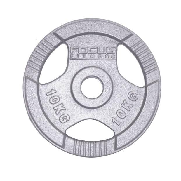 Olympische Halterschijf 50 mm - Focus Fitness Hamerton - 10 kg - Gietijzer