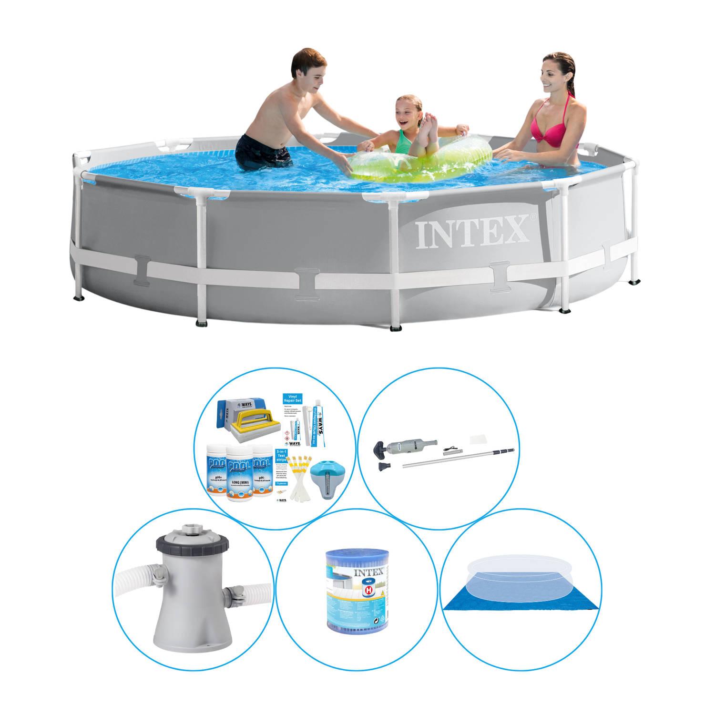 Zwembad Inclusief Accessoires - 6-delig - Intex Prism Frame Rond 305x76 Cm
