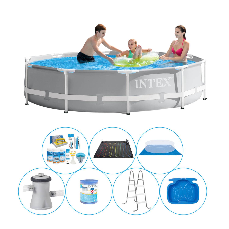 Zwembad Super Deal - 8-delig - Intex Prism Frame Rond 305x76 Cm