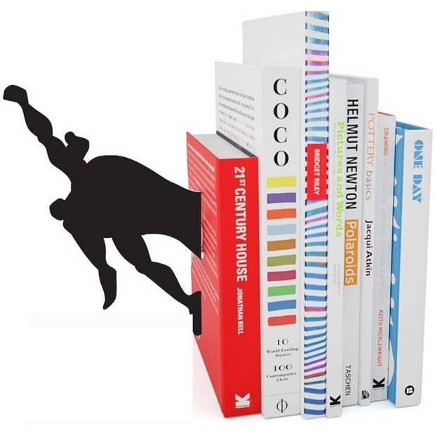 Fisura boekenstandaard Superman 18 x 8,5 cm polyresin zwart