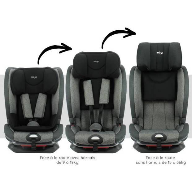 MIGO autostoel Denver isofix - GR 1/2/3 (9-36kg) verstelbaar - comforthoes