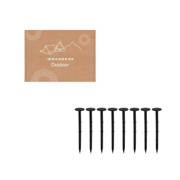 Orange85 Gronddoekpennen - Set van 8 stuks - Zwart - Gronddoeken - Haken - Pennen - Haringen
