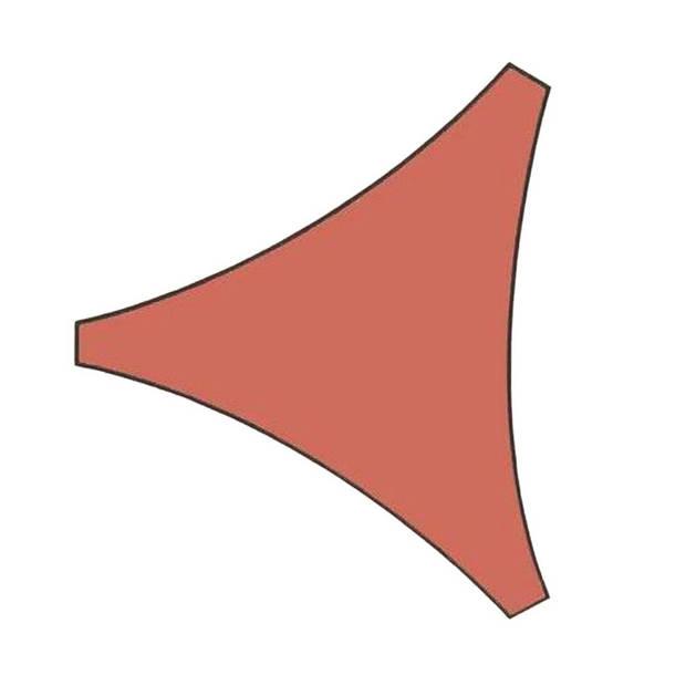 Orange85 Schaduwdoek Driehoek Terracotta 5x5x5 meter
