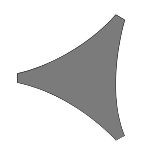 Orange85 Schaduwdoek Driehoek Grijs 3x3x3 meter