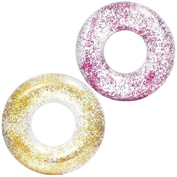 Intex Zwemband Glitter Roze en Goud 2 stuks