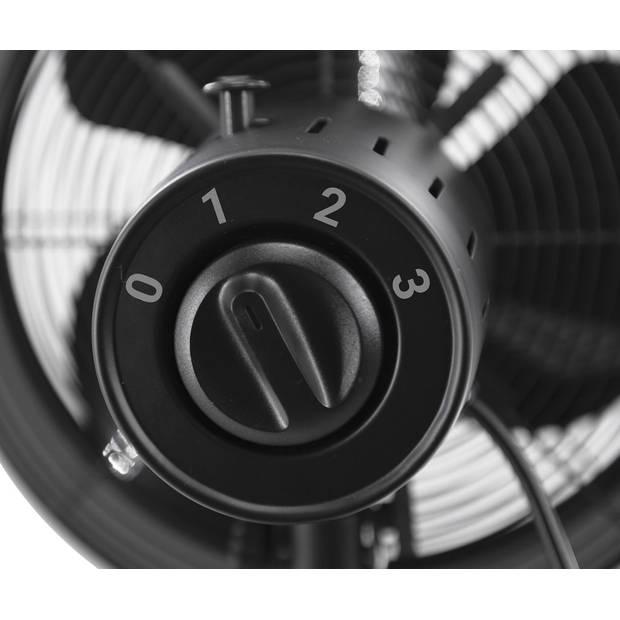Tomado TFT3006B - tafelmodel ventilator - retro - 30 cm - zwart