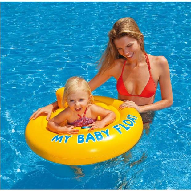 Intex baby zwemzitje geel 70 cm