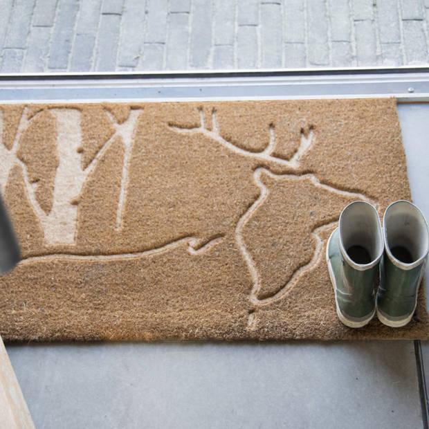 Esschert Design deurmat 45 x 75 cm kokosvezel/PVC bruin