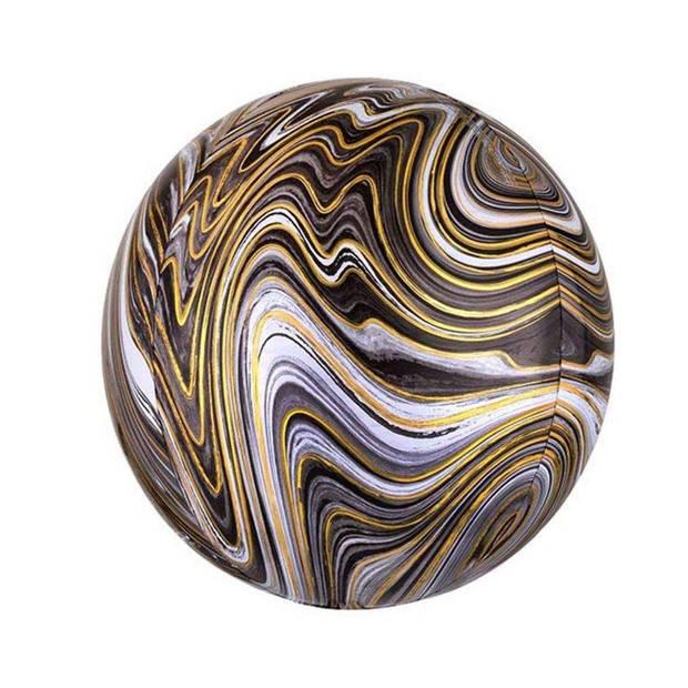 Amscan folieballon Marblez Black 45 cm zwart