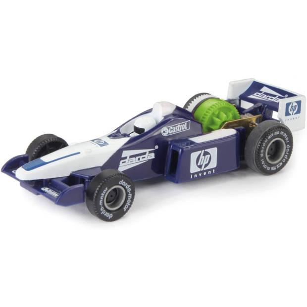 Darda speelgoedauto Formule 1 pull-back 1:60 blauw/wit