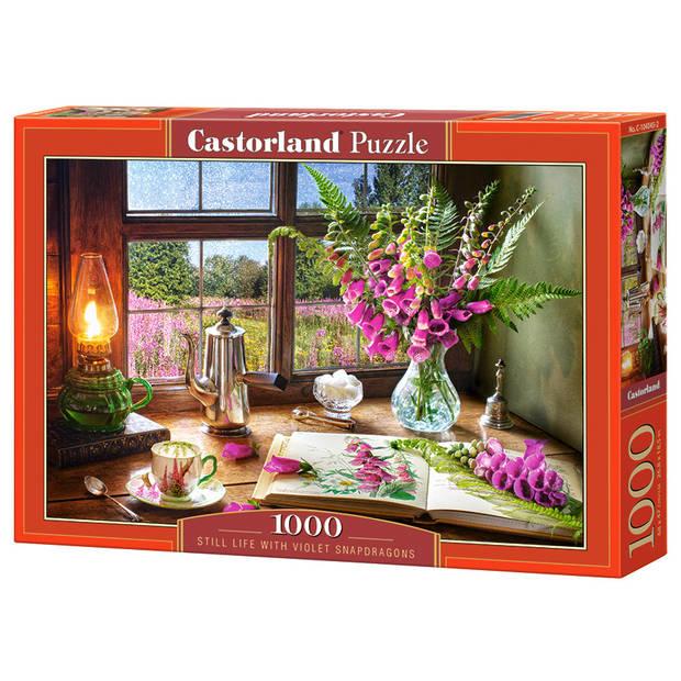 Castorland legpuzzel Still Life Violet Snapdragons 1000 stukjes