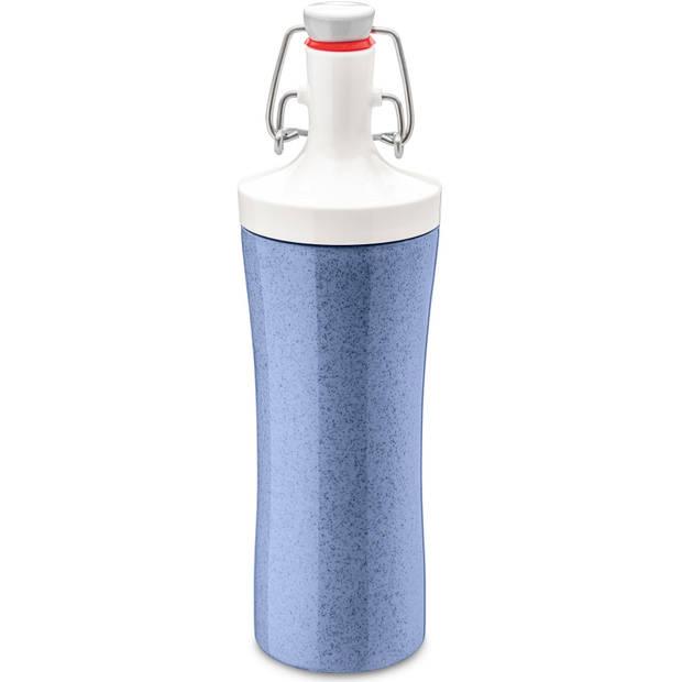Koziol drinkfles Plopp To Go 425 ml blauw/wit
