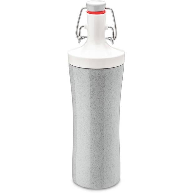 Koziol drinkfles Plopp To Go 425 ml grijs/wit