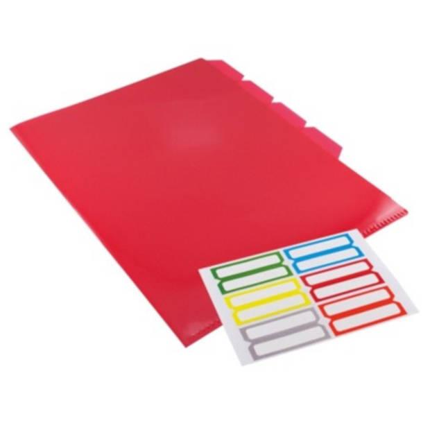 Verhaak L-tassen met tabs en labels A4 5 stuks