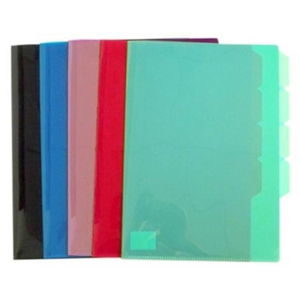 Verhaak L-tassen met tabs A4 5 stuks