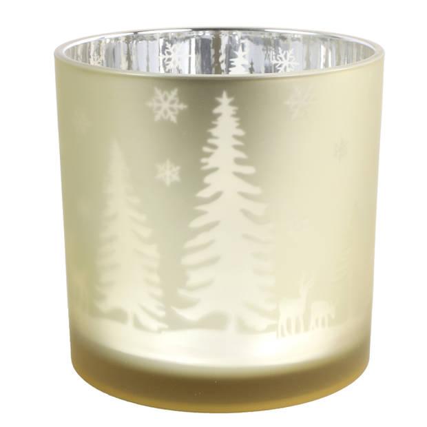 Countryfield theelichthouder Dottie 15 cm glas goud
