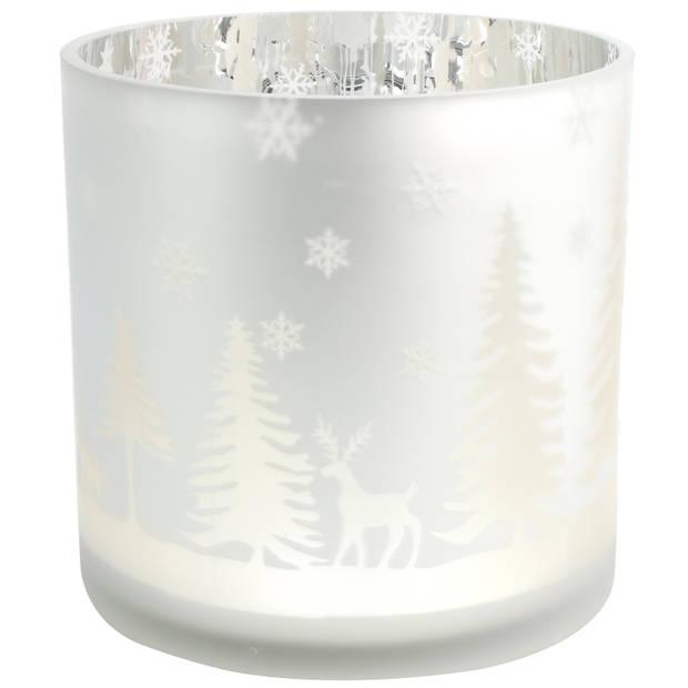 Countryfield theelichthouder Dottie 20 cm glas zilver