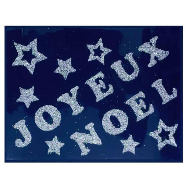"""Peha stickerset """"Joyeuses Noel"""" 29,5 x 40 cm zilver"""