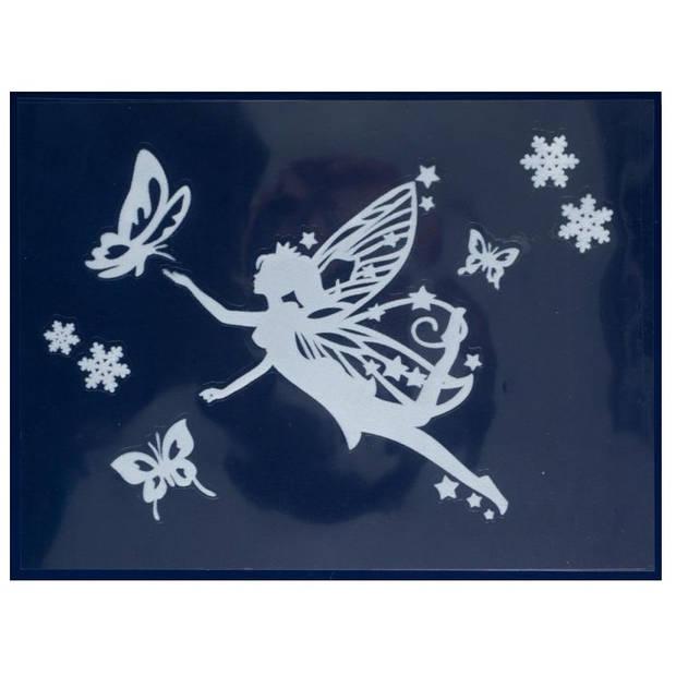 Peha stickerset elfje 29,5 x 40 cm wit 7-delig